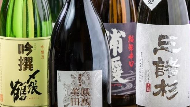 鰻料理に合う日本酒や焼酎も多彩にご用意いたしております