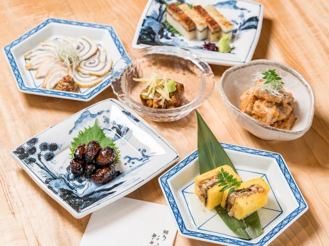 希少な青鰻を使った一品料理を豊富にご用意しております
